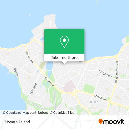 Myvatn map