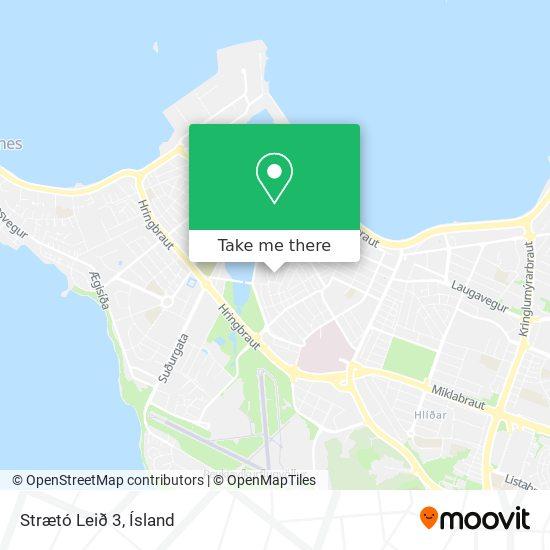 Strætó Leið 3 map