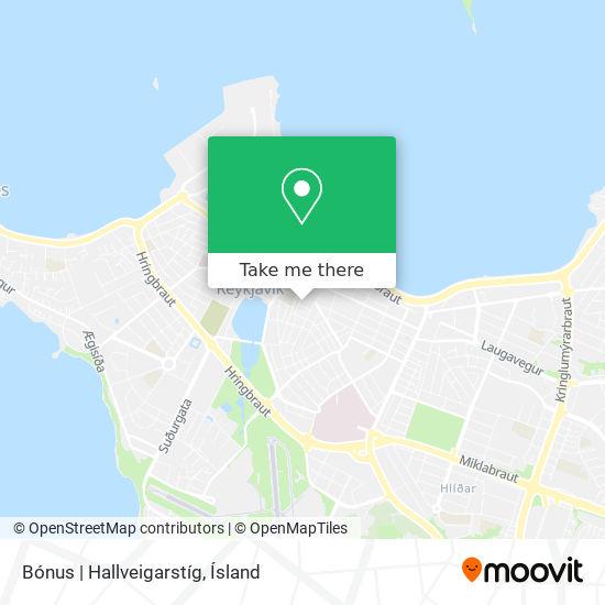 Bónus  Hallveigarstíg map