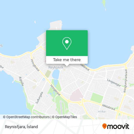 Reynisfjara map