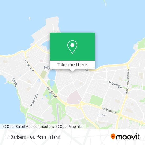 Hlíðarberg - Gullfoss map