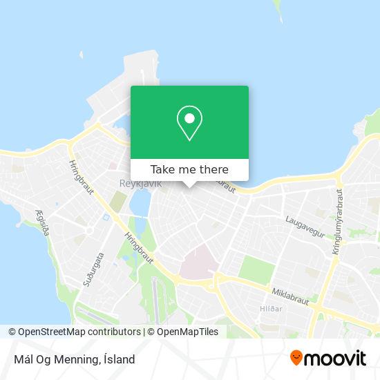 Mál Og Menning map