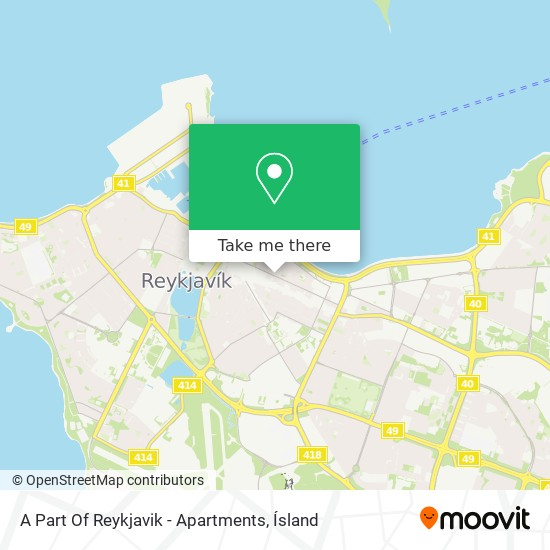 A Part Of Reykjavik - Apartments map