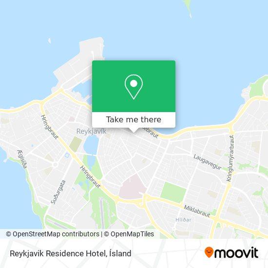 Reykjavik Residence Hotel map