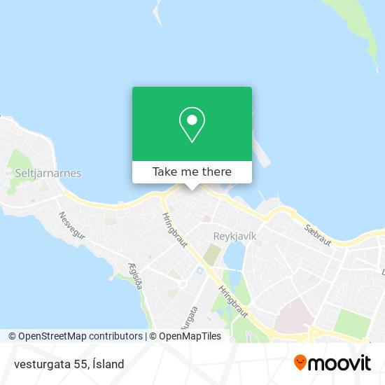 vesturgata 55 map