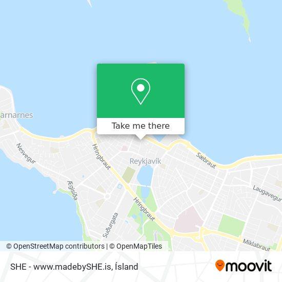 SHE - www.madebySHE.is map