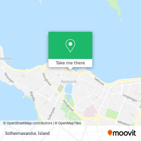 Sólheimasandur map