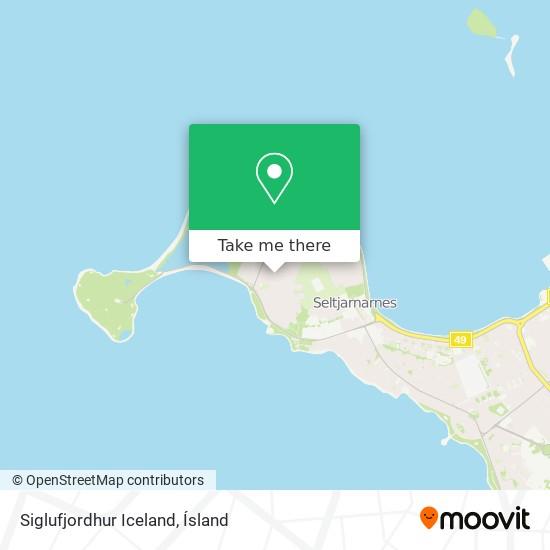 Siglufjordhur Iceland map