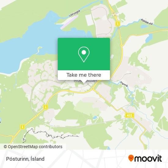 Pósturinn map