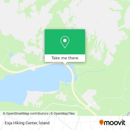 Esja Hiking Center map