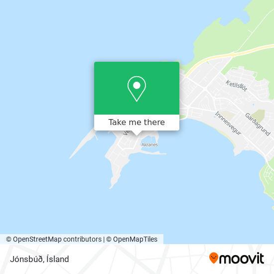 Jónsbúð map