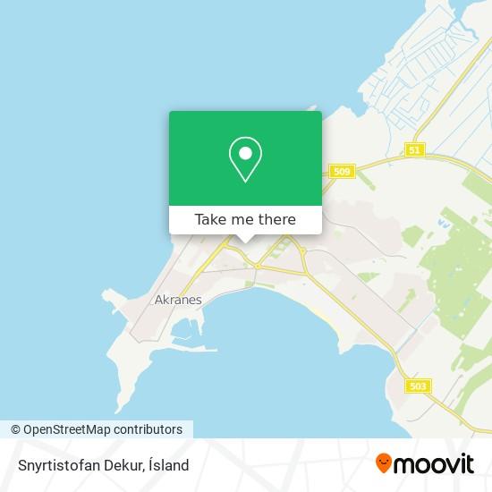 Snyrtistofan Dekur map
