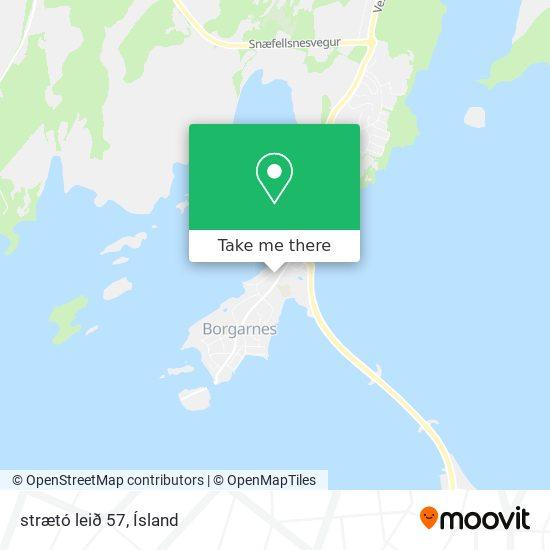 strætó leið 57 map