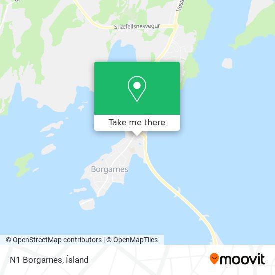 N1 Borgarnes map