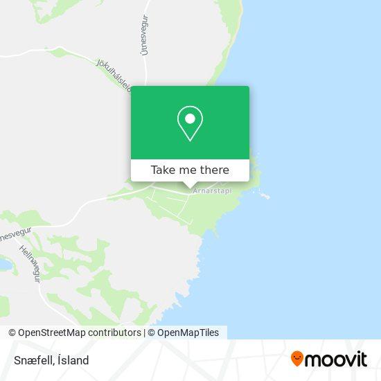 Snæfell map