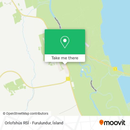 Orlofshús RSÍ - Furulundur map