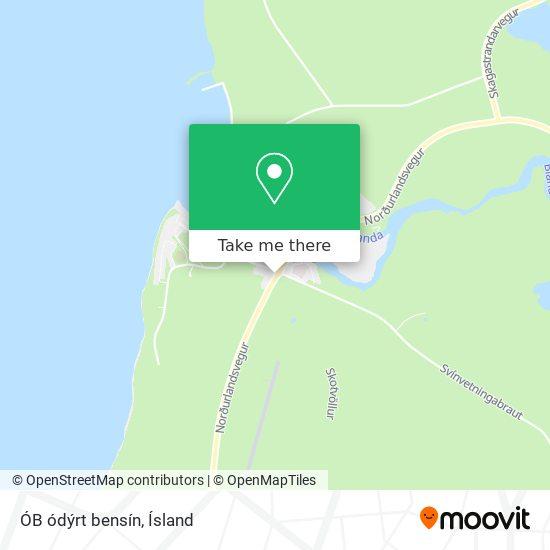 ÓB ódýrt bensín map
