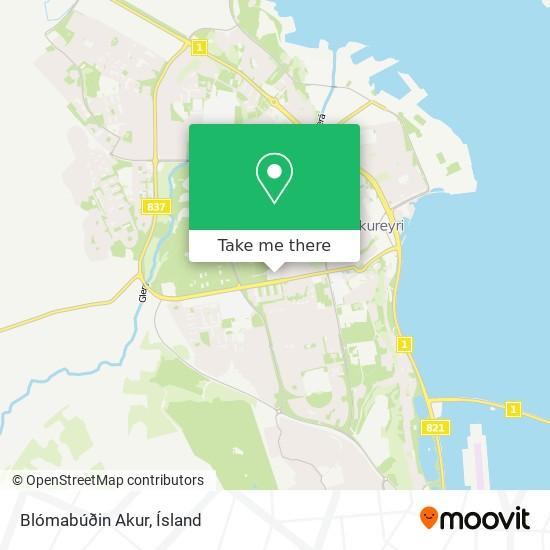 Blómabúðin Akur map