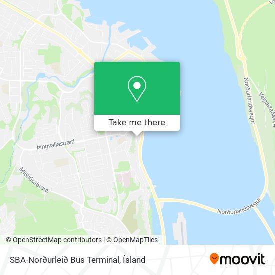 SBA-Norðurleið Bus Terminal map