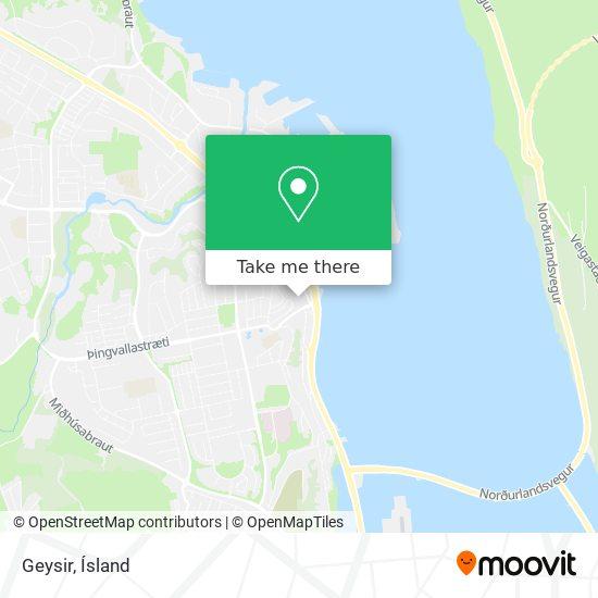 Geysir map