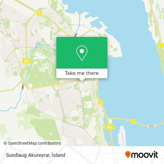 Sundlaug Akureyrar map