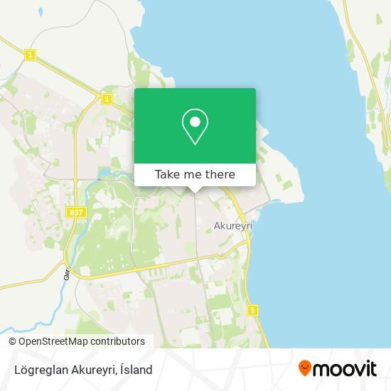 Lögreglan Akureyri map