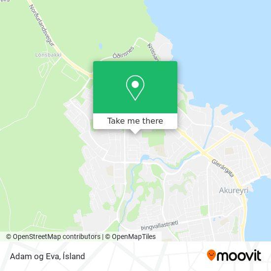 Adam og Eva map
