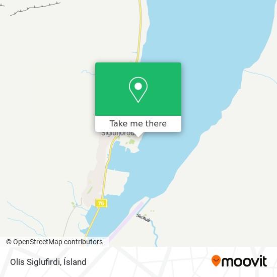 Olís Siglufirdi map