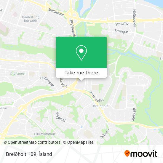 Breiðholt 109 map