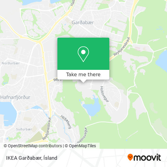 IKEA Garðabær map
