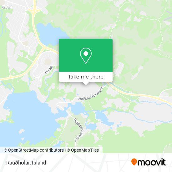 Rauðhólar map