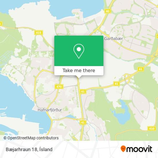 Bæjarhraun 18 map