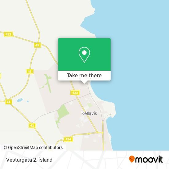 Vesturgata 2 map