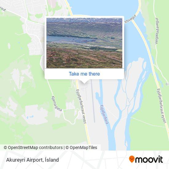 Akureyri Airport map
