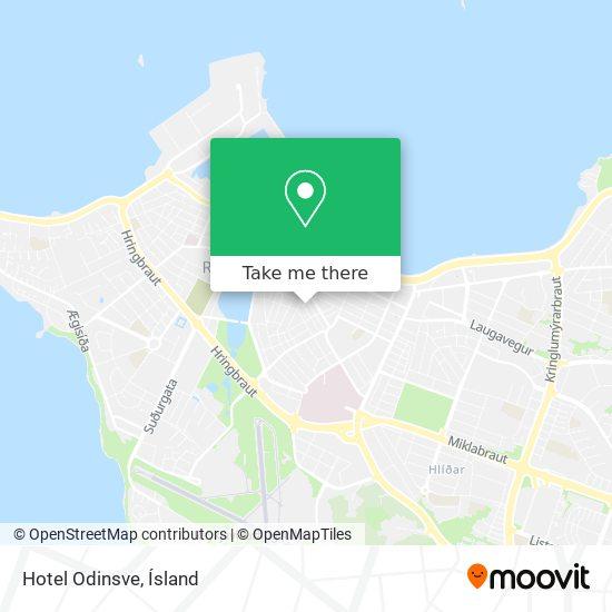 Hotel Odinsve map