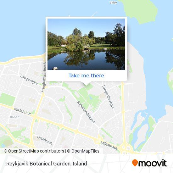 Reykjavik Botanical Garden map