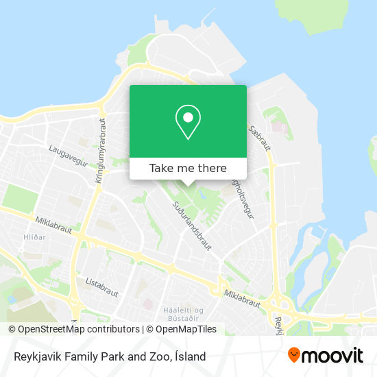 Reykjavik Family Park and Zoo map