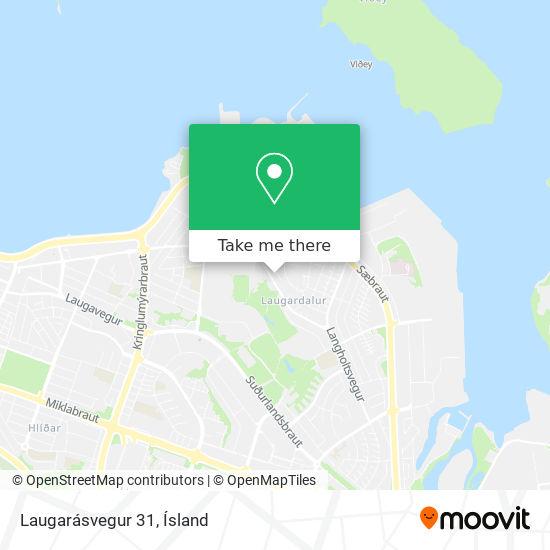 Laugarásvegur 31 map