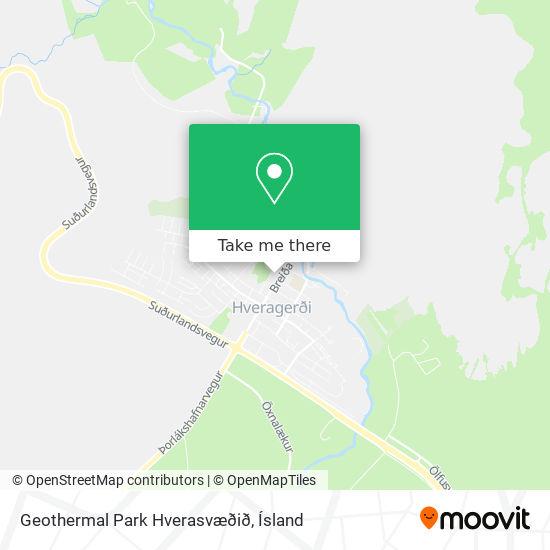 Geothermal Park Hverasvæðið map