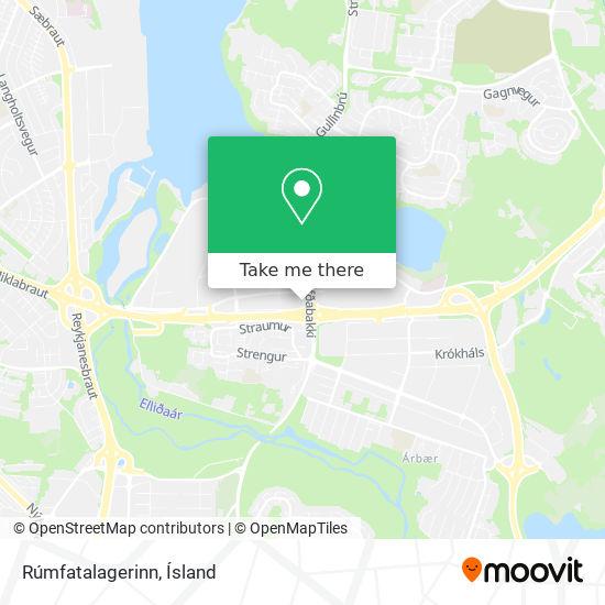 Rúmfatalagerinn map