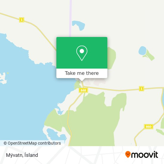 Mývatn map