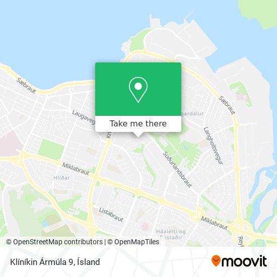 Klíníkin Ármúla 9 map