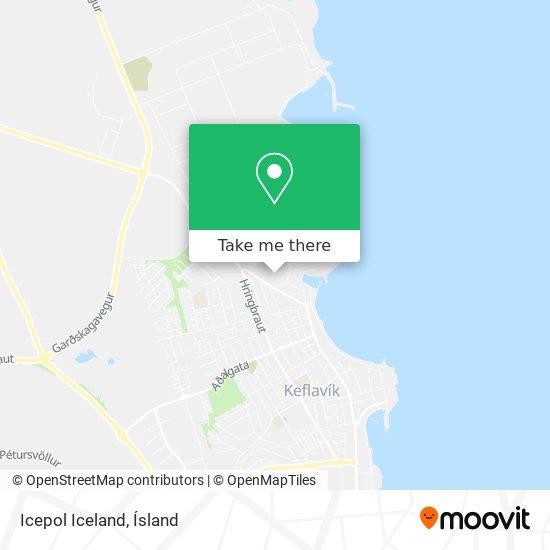 Icepol Iceland map