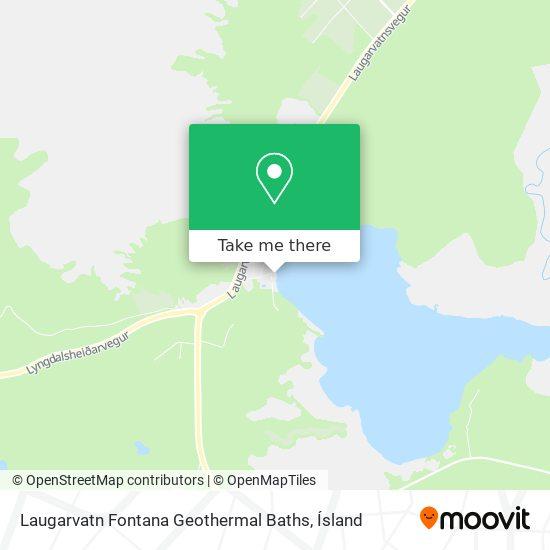 Laugarvatn Fontana Geothermal Baths map