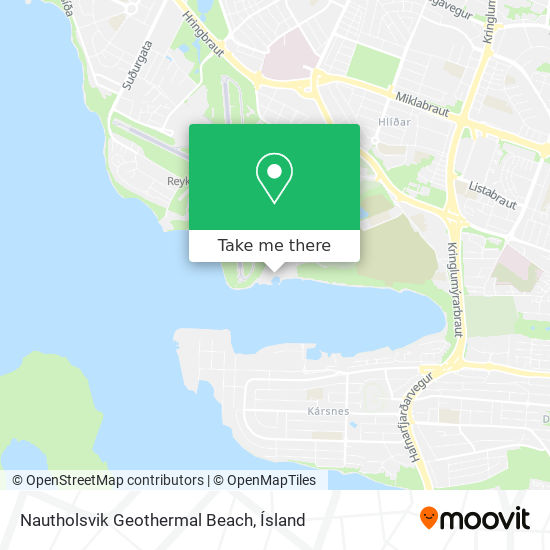 Nautholsvik Geothermal Beach map