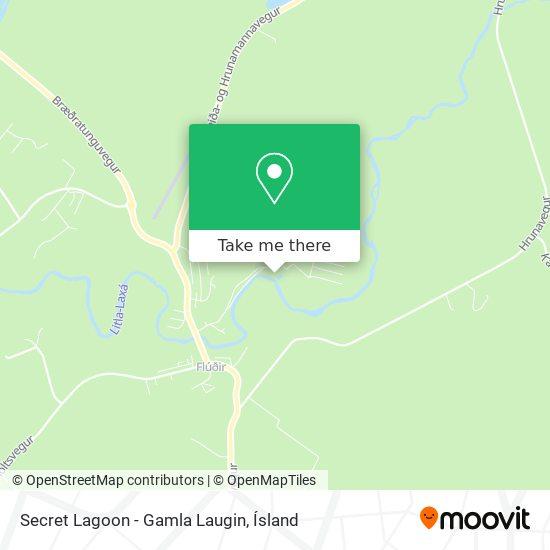 Secret Lagoon - Gamla Laugin map