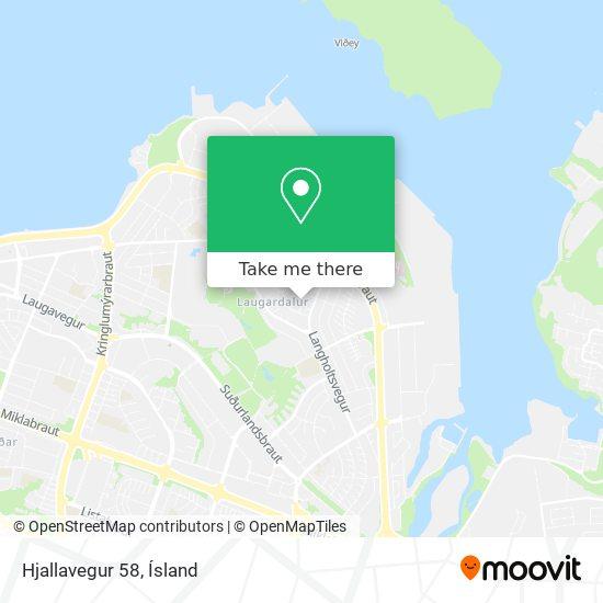 Hjallavegur 58 map