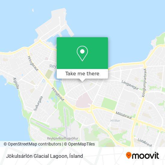 Jökulsárlón Glacial Lagoon map