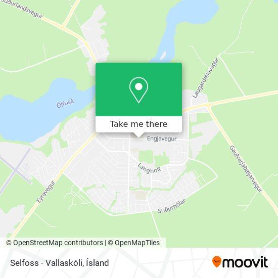 Selfoss - Vallaskóli map