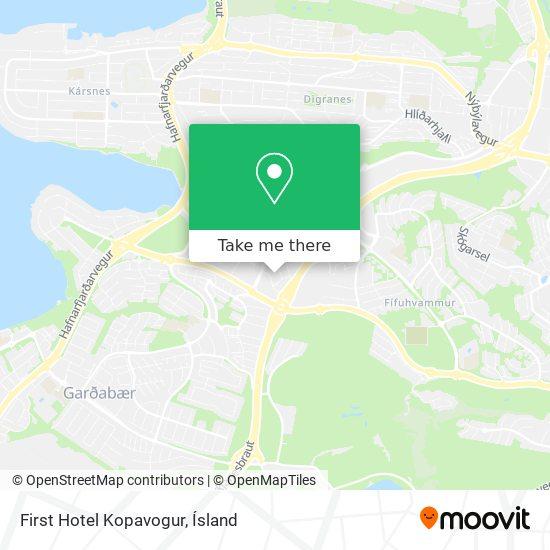 First Hotel Kopavogur map